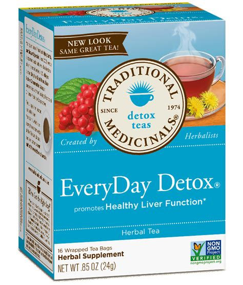 Is It Safe To Detox Everyday by Everyday Detox 174 Traditional Medicinals Detox Teas