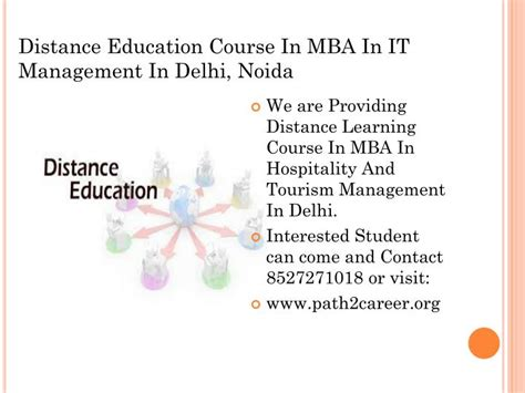 What Is Mba In Education by Ppt Distance Education Course In Mba In It Management In