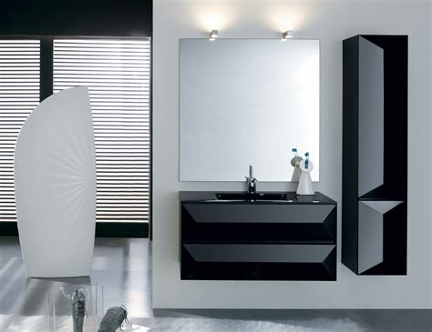 Modern Italian Bathrooms Tetrix T3 Contemporary Italian Bathroom Furniture In Black Lacquer