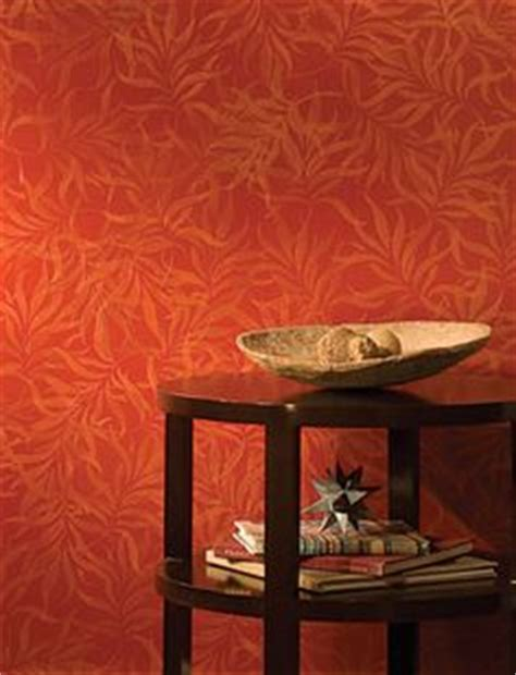 Design For Burnt Orange Paint Colors Ideas Living Room Wall Painted With Modern Masters Sashay Metallic Paint And Stenciled Using Royal