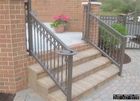 metal handrails for stairs exterior modern style home