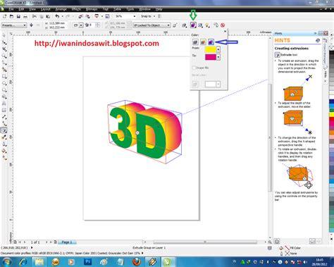 membuat gambar 3d corel draw membuat efek teks 3d dengan corel draw x5