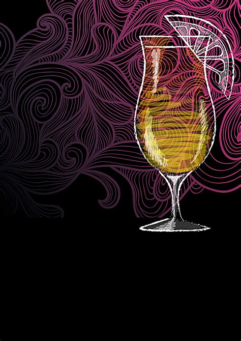 cocktails background cocktail flyer background material cocktail