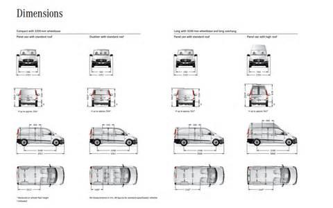 Sprinter Van Dimensions Interior Mercedes Vito Compact Internal Dimensions