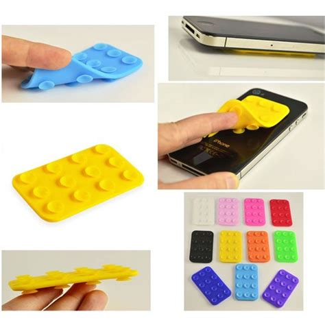 Perekat Flat Silicone Suction Holder For Smartphone Murah flat silicone suction holder for smartphone black jakartanotebook