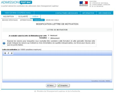Exemple De Lettre De Motivation Pour Apb Licence Apb D 233 Crypt 233 Comment Se Rep 233 Rer Sur Admission Postbac L Etudiant