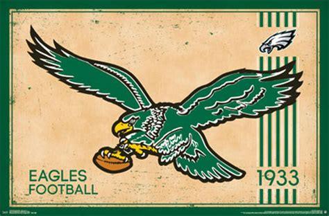 Dallas Home Decor by Philadelphia Eagles Retro Logo 14 Wall Poster