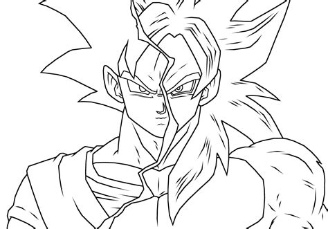 coloring pages goku goku ssj coloring pages coloring home