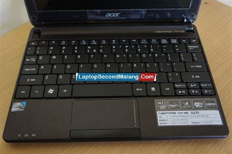 Laptop Acer Aspire One D270 Bekas acer aspire one d270 netbook second jual beli laptop second sparepart laptop service laptop
