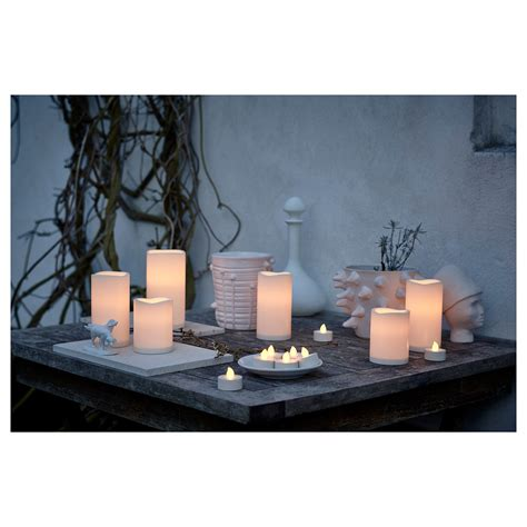 Godafton Led Block Candle In Outdoor Battery Operated Battery Lights Ikea