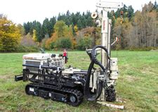 limited access, all terrain, rubber track drill rigs; holt