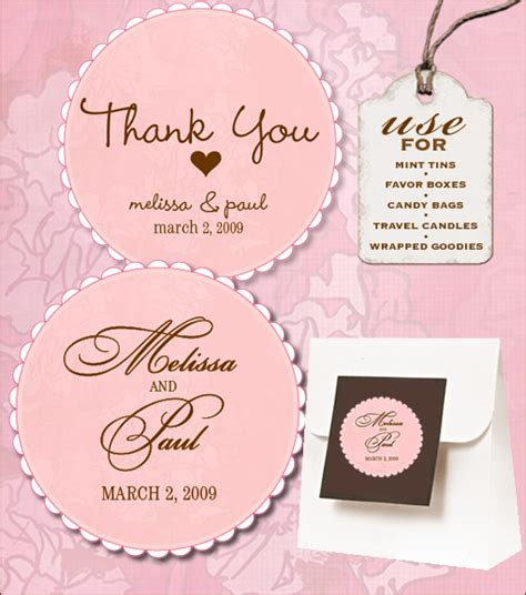 wedding favor labels template sweet retro free wedding labels