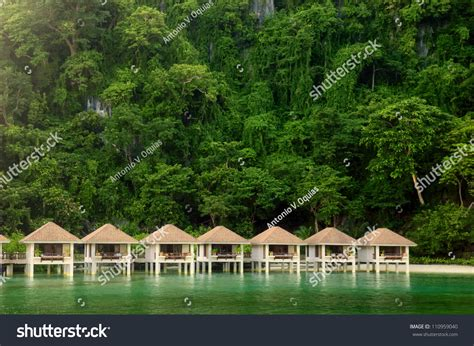 Palawan Cottages by Cottages On Stilts El Nido Palawan Stock Photo 110959040