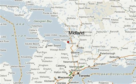 midland on map midland canada location guide