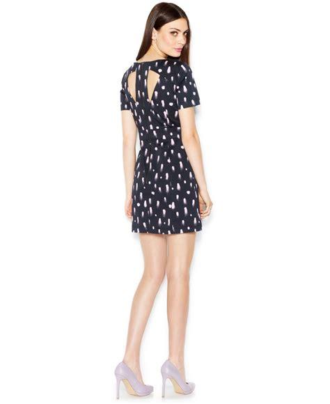 Polka Dot Sleeve A Line Dress connection sleeve polka dot a line dress in