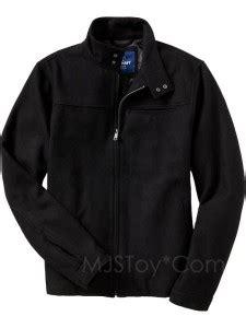 nwt  navy black wool blend zip men jacket winter coat