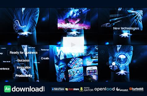 after effects free reel template business reel free after effects project videohive