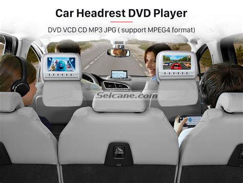 Car Headrest Types by 2x 9 Quot Black Active Car Pillow Headrest Monitor Dvd