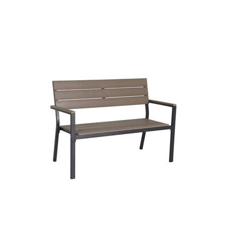 hton bay northridge patio park bench fza30124b the
