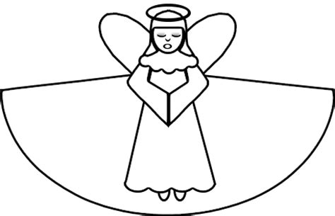 angel cut out template clipart best