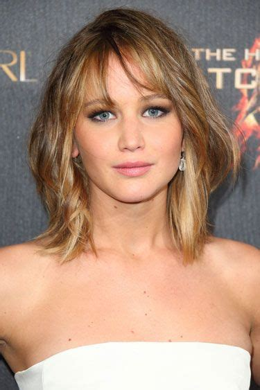 is jennifer lawrence hair cut above ears or just tucked behind 168 best images about sexy shoulder length on pinterest