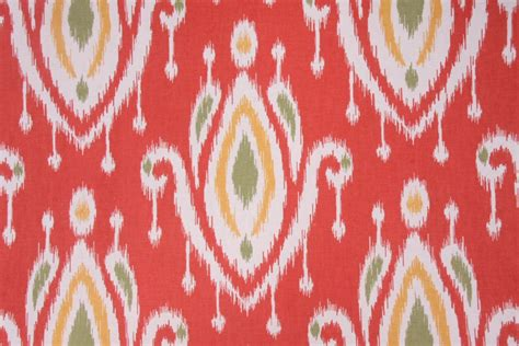 coral curtain fabric surat printed cotton drapery fabric in coral