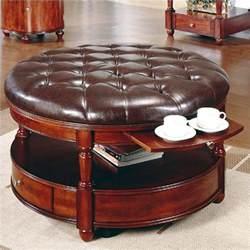 Unique Ottoman Coffee Table Unique And Creative Tufted Leather Ottoman Coffee Table Homesfeed