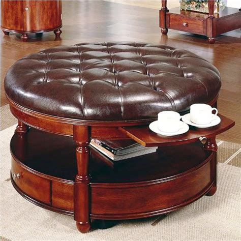coffee table leather ottoman unique and creative tufted leather ottoman coffee table