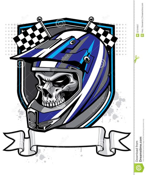 skull motocross helmet motocross skull rider royalty free stock photography