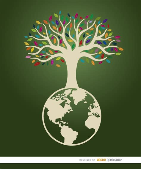 poster design nature earth tree ecologic poster vector download