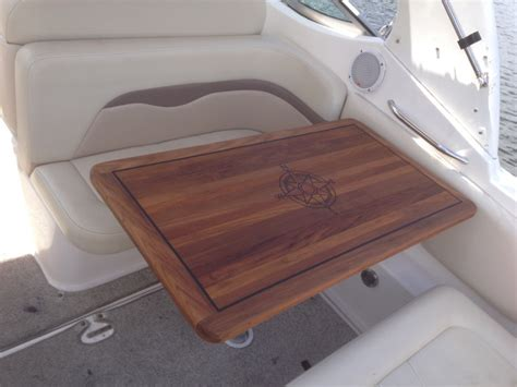 sea ray boat tables teak cockpit table boat talk chaparral boats owners club