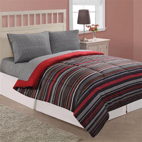 microfiber comforters essential home east side stripe microfiber comforter