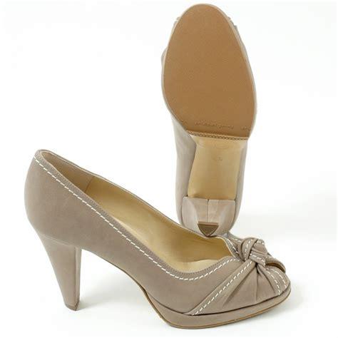 taupe high heel shoes kaiser sirma high heel small platform peep toe