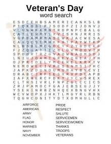 veteran s day activities free printables crossword word search matching