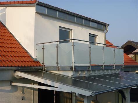 Terrassenüberdachung Alu Glas Mit Montage by Edelstahlgel 228 Nder Mit Glas Komplette Baus 228 Tze