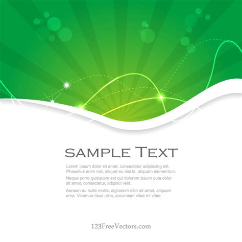 flyer background template green background template free vector