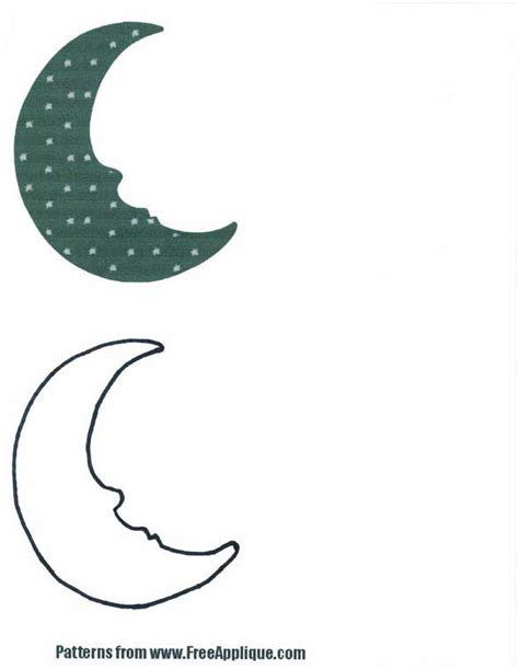 moon sun shapes patterns for applique quilts