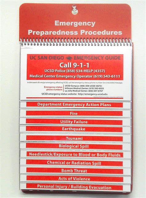 Guide To Emergency Preparedness Large Polyboard Guide Emergency Preparedness Procedure Template