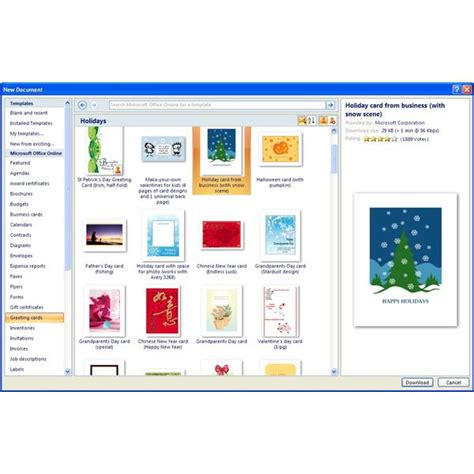Microsoft Office Greeting Card Templates Free where to find free microsoft office greeting card templates