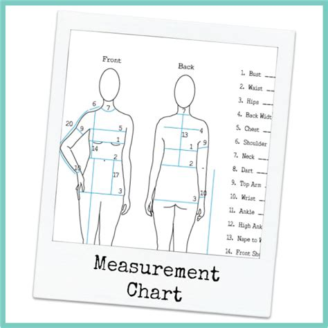 personal measurement chart fashion design school