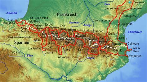 Pyren En Motorrad by Pyren 228 En Globaladventuretours Landkarte F 252 R Deutschland