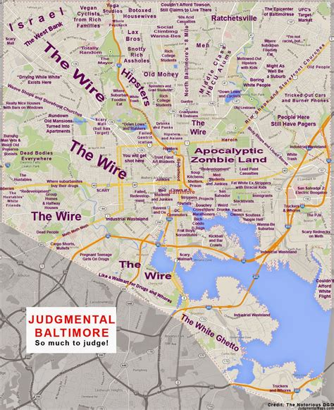 judgemental map of abombazine quot judgmental map quot of baltimore