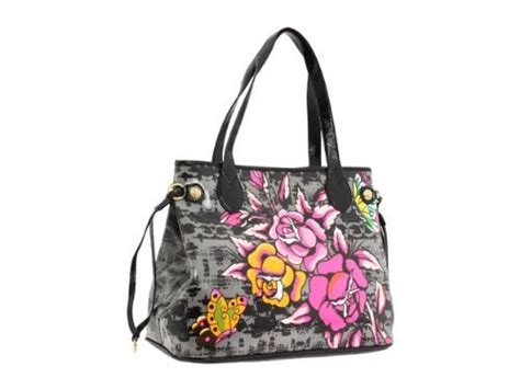 ed hardy purse tote bag bag coming up roses w