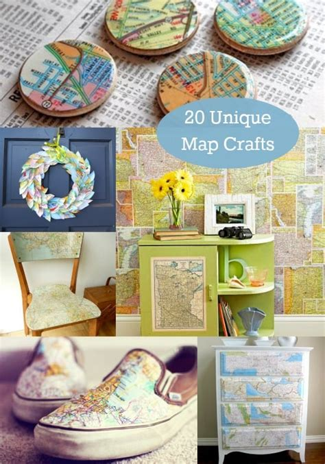 craft map 20 unique ideas for map crafts diy