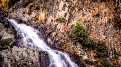 hd wallpaper mountain river cliff spain