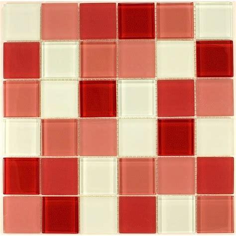 Superbe Credence Pour Salle De Bain #1: mosaique-verre-douche-salle-de-bain-credence-cuisine-rouge-48.jpg