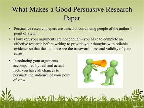 What Makes A Research Paper - ppt persuasive research paper topics powerpoint