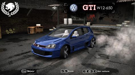 Volkswagen Golf W12 by Need For Speed Most Wanted Volkswagen Golf Gti W12 650