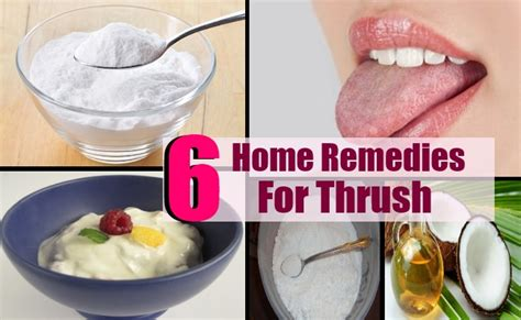 6 home remedies for thrush treatments cure for