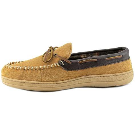 slipper loafer florsheim moc slip on loafer leather brown slipper